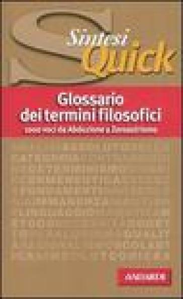 Glossario dei termini filosofici - A. Arrigoni   Rochesterscifianimecon.com