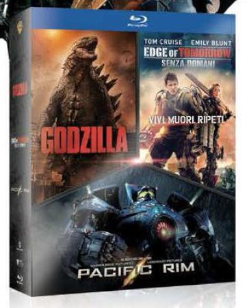 Godzilla + Edge of tomorrow + Pacific Rim (3 Blu-Ray)