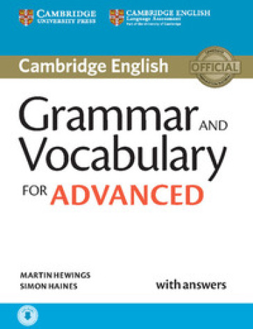 Grammar and vocabulary for advanced book. Per le Scuole superiori. Con e-book. Con espansione online
