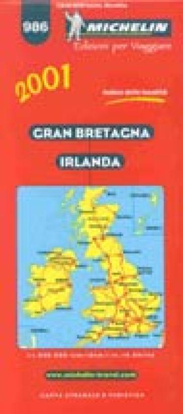 Irlanda Cartina Turistica.Gran Bretagna Irlanda Carta Stradale E Turistica Michelin 1 1 000 000 Libro Mondadori Store