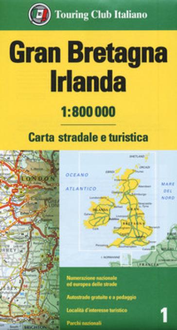 Gran Bretagna e Irlanda 1:800.000. Carta stradale e turistica