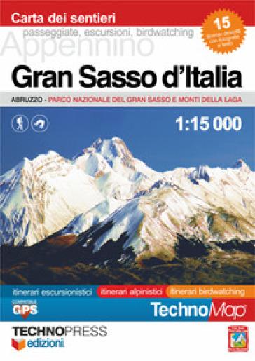 Gran Sasso d'Italia. Carta dei sentieri