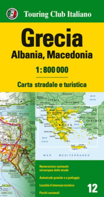 Grecia, Albania, Macedonia 1:800.000. Carta stradale e turistica. Ediz. multilingue