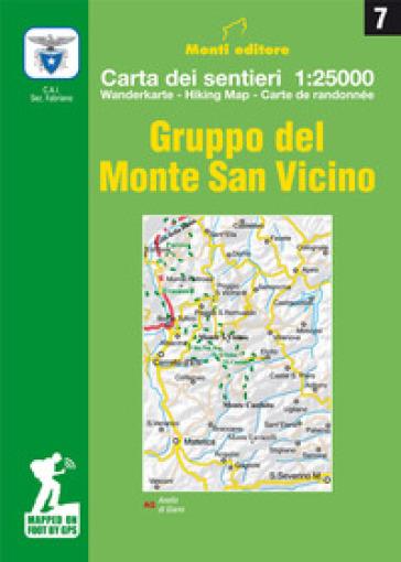 Gruppo del Monte San Vicino. Carta dei sentieri 1:25.000. Ediz. multilingue - Raffaele Monti |