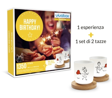 Happy Birthday! - 1 Esperienza + 1 Set di 2 Tazze