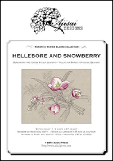 Hellebore and snowberry. Cross stitch blackwork design. Ediz. italiana, inglese e francese - Valentina Sardu  