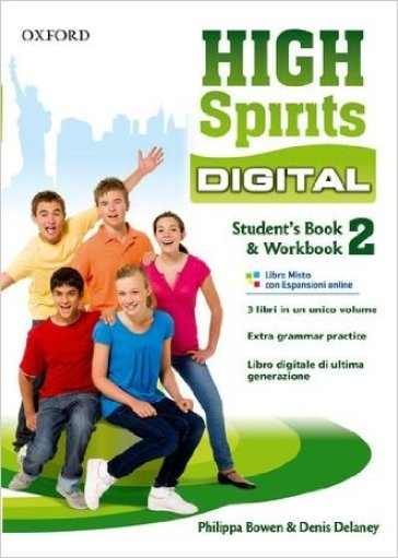 High spirits digital. Student's book-Workbook. Per la Scuola media. Con e-book. Con espansione online. 2.