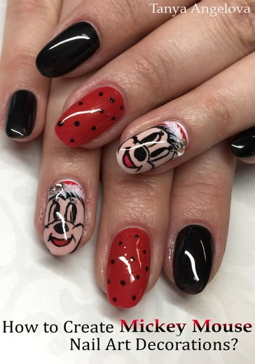 How to Create Mickey Mouse Nail Art Decorations?