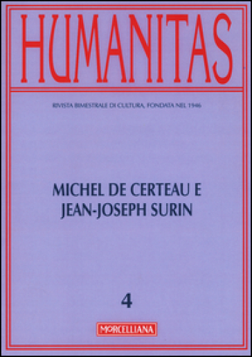 Humanitas (2015). 4: Michel De Certeau e Jean-Joseph Surin