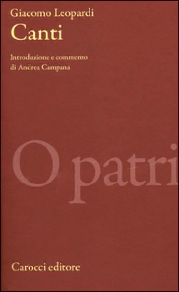 I canti - Giacomo Leopardi |