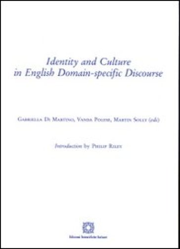 Identity and culture in english domain. Specific discourse