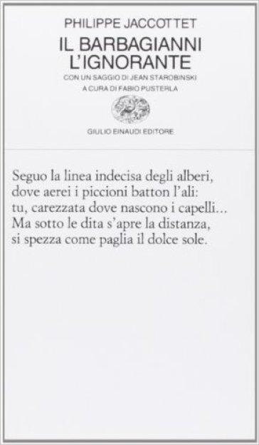 Il barbagianni. L'ignorante - Philippe Jaccottet pdf epub