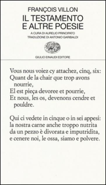 Il testamento e altre poesie - François Villon | Ericsfund.org