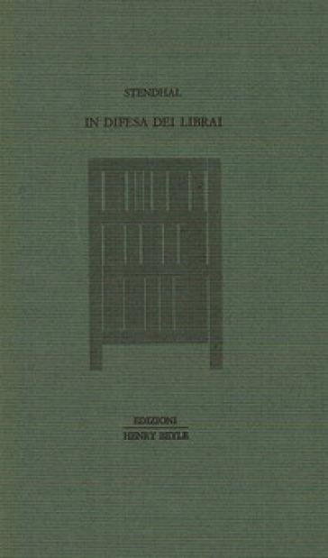 In difesa dei librai - Stendhal  