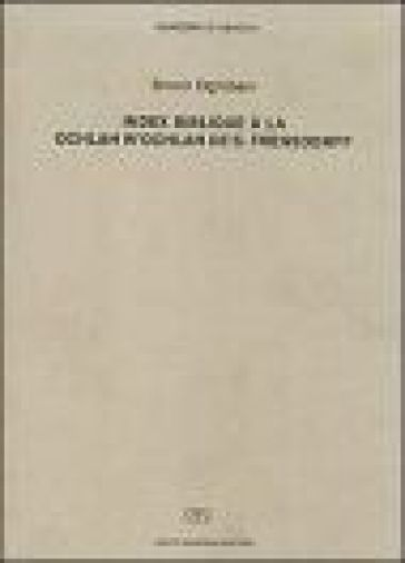 Index biblique à la «Ochlah w' ochlah» de S. Freusdorff - Bruno Ognibeni | Ericsfund.org