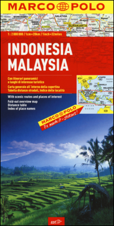 Indonesia, Malaysia 1:2.000.000