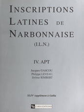 Inscriptions latines de Narbonnaise (4) : Apt