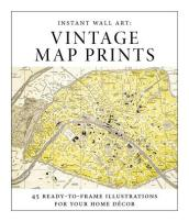 Instant Wall Art - Vintage Map Prints
