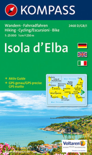 Isola d'Elba 1:25.000. Adatto a GPS. DVD-ROM. Digital map