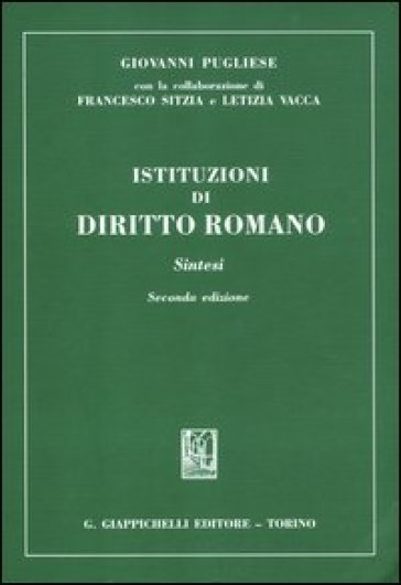 Istituzioni di diritto romano. Sintesi - Francesco Sitzia pdf epub