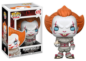 It - Pop Funko Vinyl Figure 472 Pennywise (With Boat) 9Cm