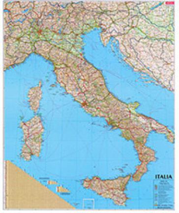 Cartina Italia Hd.Italia Carta Geografica Amministrativa Stradale Libro Mondadori Store