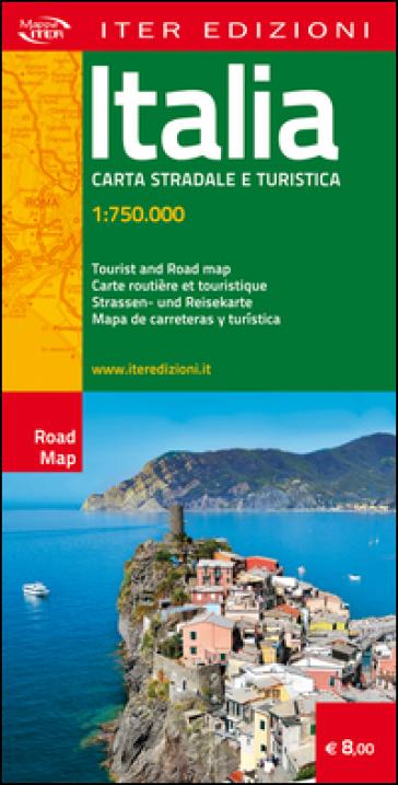 Italia. Carta stradale e turistica 1:750.000
