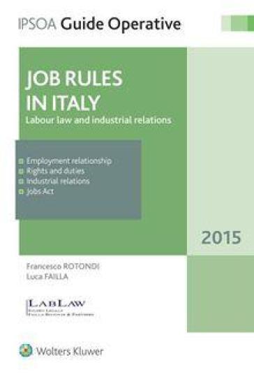 Jobs rules in Italy - Francesco Rotondi | Ericsfund.org