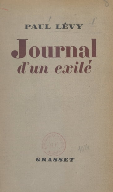 Journal d'un exilé
