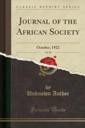 Journal of the African Society, Vol. 85 of 22