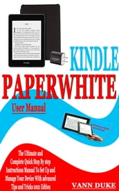 KINDLE PAPERWHITE USER MANUAL