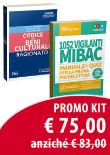 Kit: 1052 vigilanti MIBAC. Manuale e quiz per la prova preselettiva-Codice dei beni culturali ragionato. Con espansione online. Con software di simulazione - Gianluca Famiglietti |