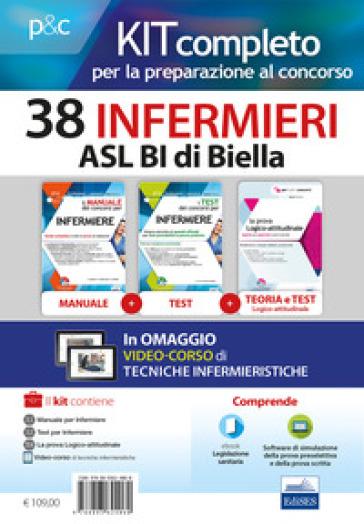 Kit concorso 38 Infermieri ASL Biella. Manuali di teoria ed esercizi commentati per la preparazione complet. Con e-book. Con software di simulazione. Con DVD video - Rosario Caruso |