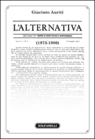 L'Alternativa (1973-1980) - Giacinto Auriti | Thecosgala.com