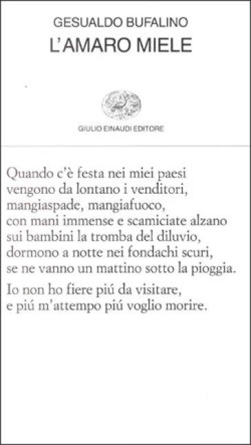 L'amaro miele - Gesualdo Bufalino | Kritjur.org