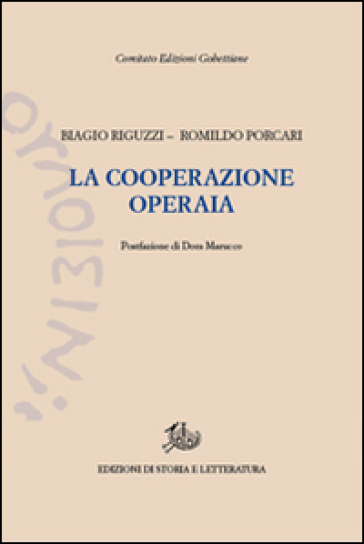 La cooperazione operaia - Biagio Riguzzi  