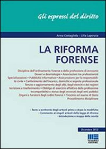 La riforma forense - Anna Costagliola | Rochesterscifianimecon.com
