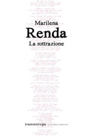La sottrazione - Marilena Renda | Jonathanterrington.com