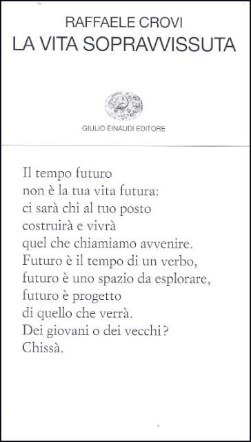 La vita sopravissuta - Raffaele Crovi  