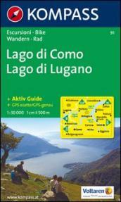Laghi settentrionali. Lago di Como, Lago di Lugano 1:50000