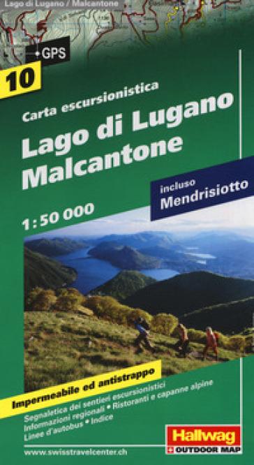 Lago di Lugano, Malcantone 1:50.000. Carta escursionistica