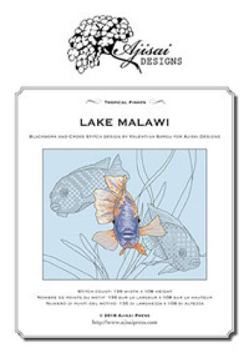 Lake Malawi. Blackwork and Cross Stitch Design by Valentina Sardu fro Aljisai Designs - Valentina Sardu   Ericsfund.org