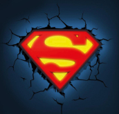 Lampada Led 3Dlightfx - Superman Logo - Con Timer