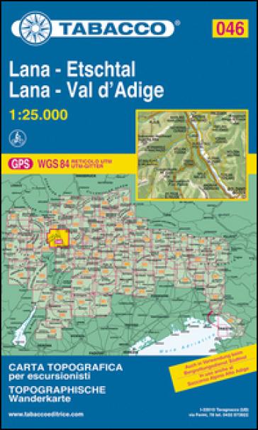 Lana-Val d'Adige-Lana-Etschtal 1:25.000