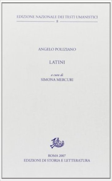 Latini - Angelo Poliziano pdf epub