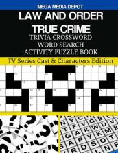 Law and Order True Crime Trivia Crossword Word Search Activity Puzzle Book