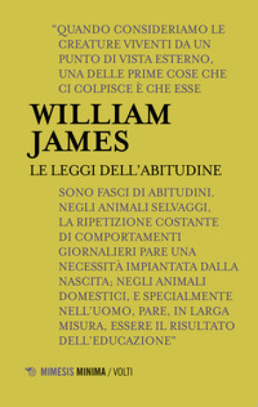 Le leggi dell'abitudine - William James | Ericsfund.org