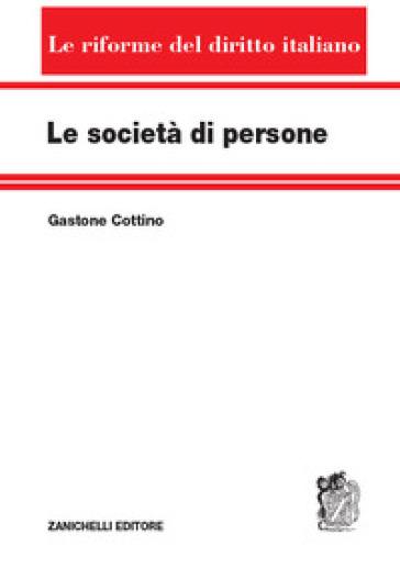 Le società di persone - Gastone Cottino | Ericsfund.org