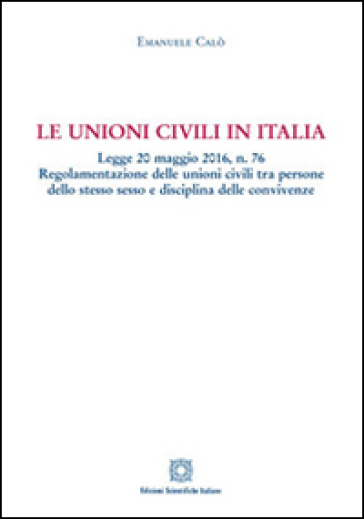 Le unioni civili in Italia - Emanuele Calò | Ericsfund.org