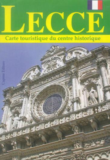 Lecce. Carte touristique du centre historique
